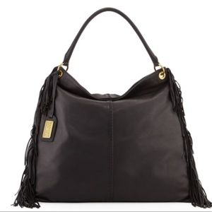 Badgley Mischka Black Leather Shoulder Bag